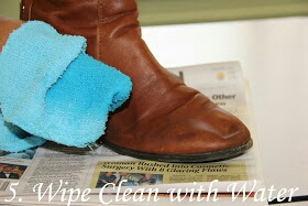 Then, wipe clean your boots with water just to remove any excess vinegar that might be drying to your boots. .