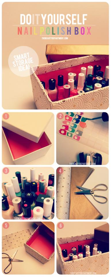 19. The smart way to store your nail polish: