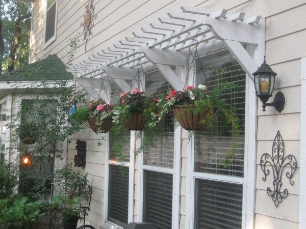 7. Wooden awning