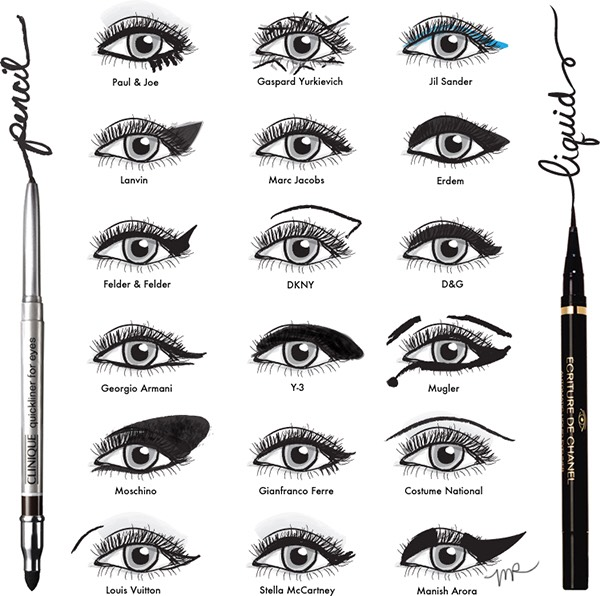 These are just different winged eyeliner styles!!