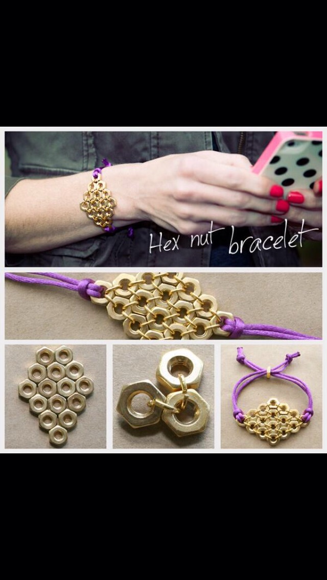 Make this creative hex nut bracelet!