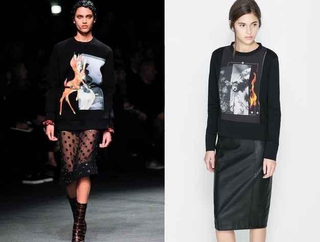 10. Givenchy/ Zara