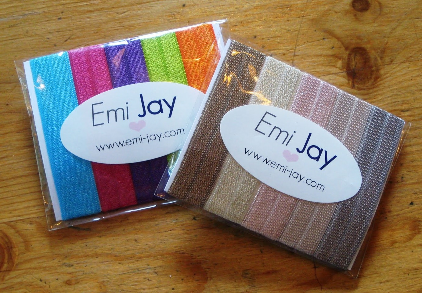 Hair ties Emi Jays are great because they don't hurt taking them out.