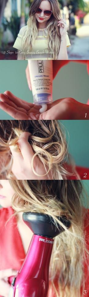 25. If all you need is a little bit of extra body, scrunch your hair with beach spray or gel and use a diffuser.