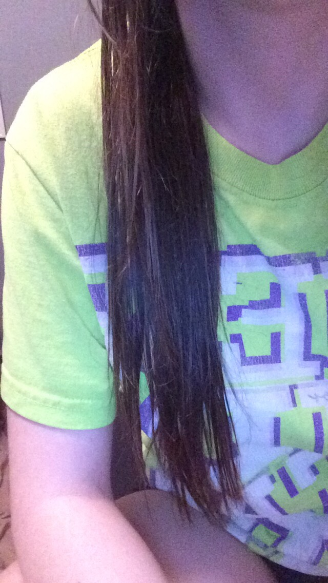 Go wash your hair and then wait till its demp