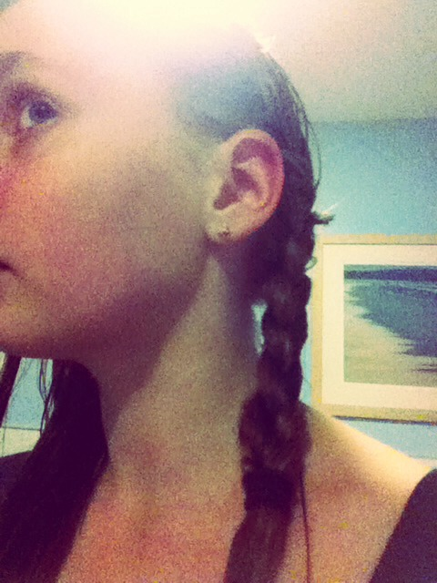 At one side do one French plait