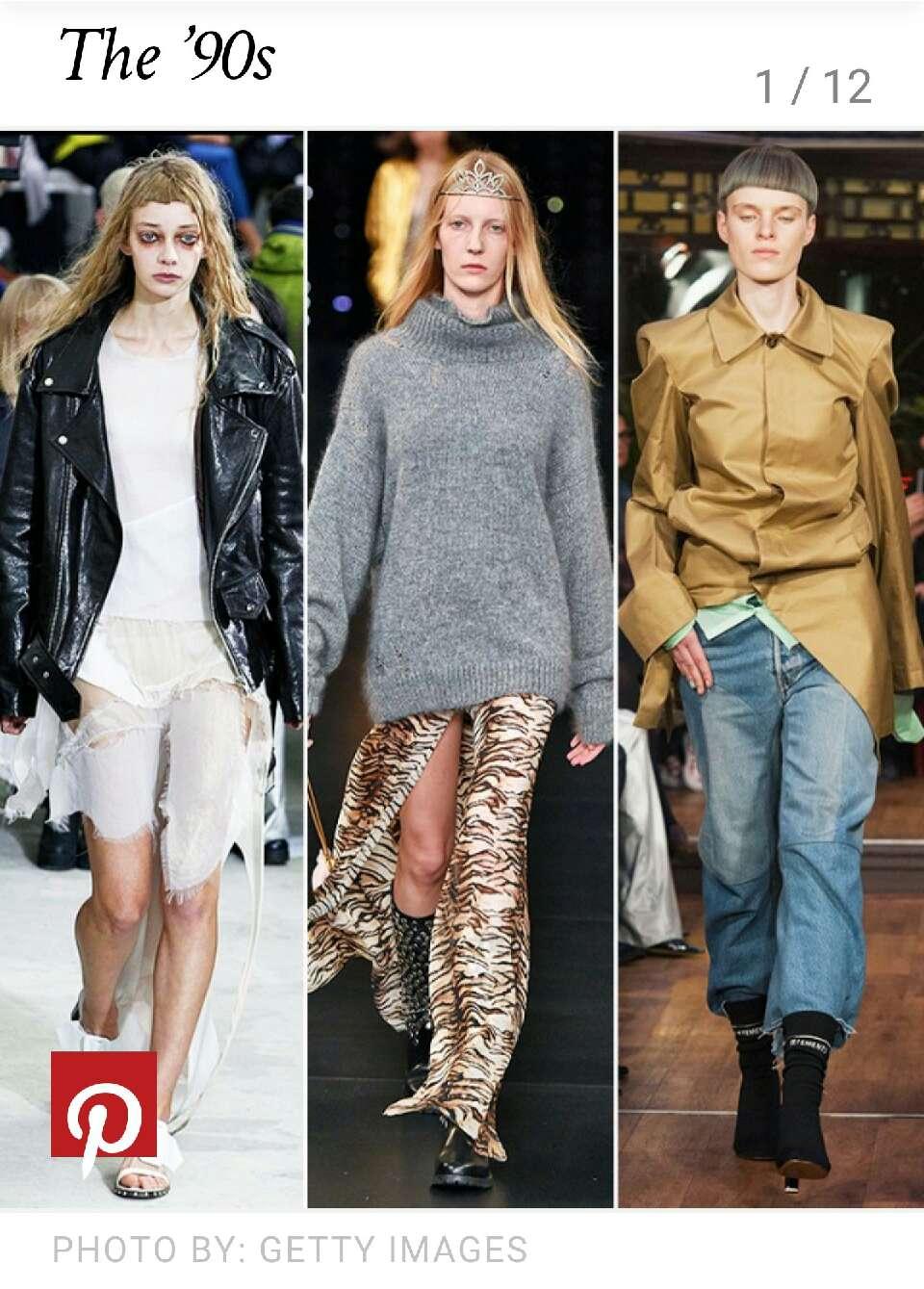 2015 minus  25 (avg age of designers) equals 1990  bringing back fashion from their childhood #nostalgic