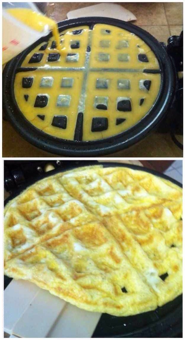 26. You Can Also Use the Waffle Iron for Eggs