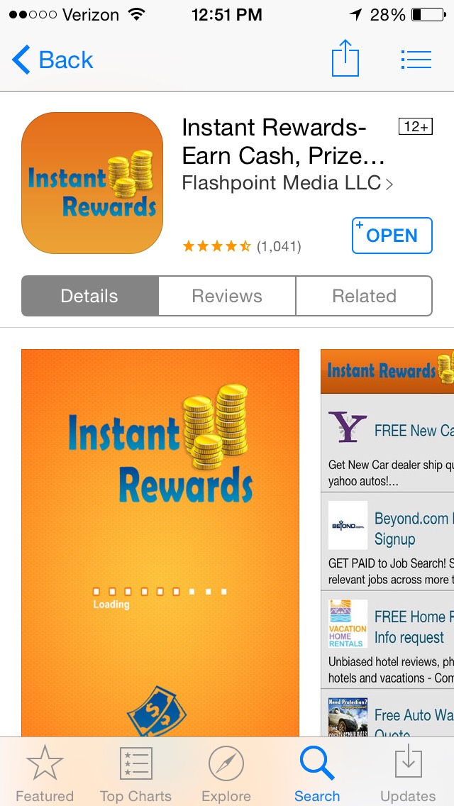 Instant rewards is a great resource for quick earnings. It's easy use and applicability makes it recommendable to all. The missions are easy and the rewards are great!