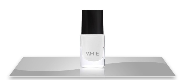 First you'll need is white nail polish
