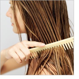 When your hair is wet, instead of brushing it, comb it. Wet hair is a lot more sensitive than dry hair and brushing it can damage it by breaking it and it causes more hair fall. Combing wet hair is much more gentle than brushing it.