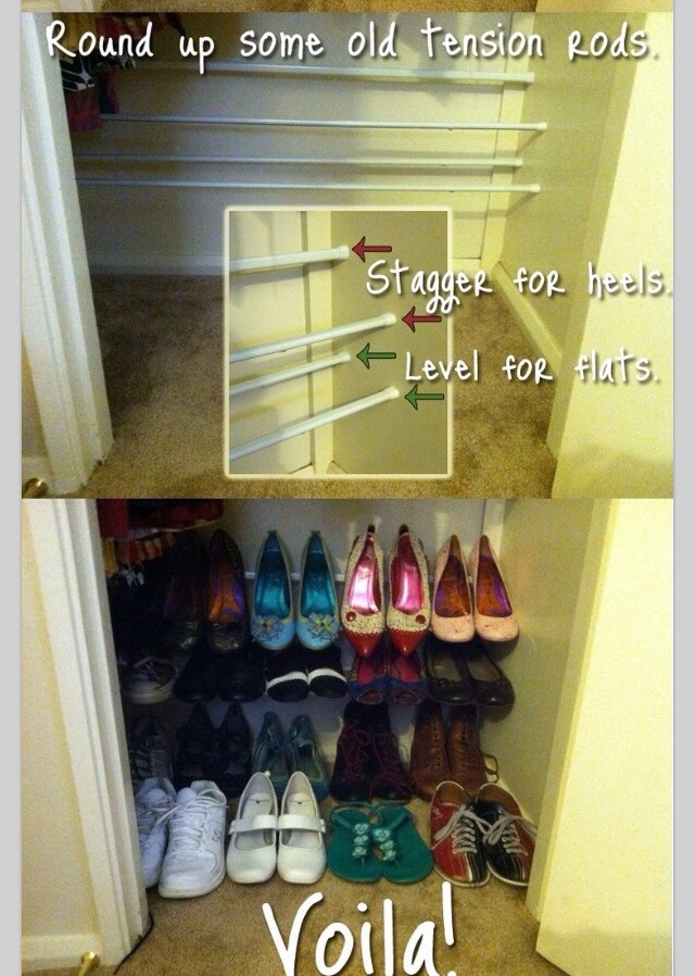 Amazing & Easy way to have your shoe organized!