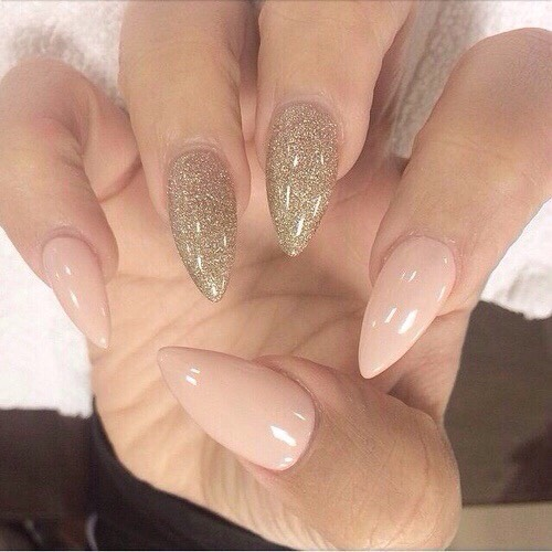 Many drug stores carry acrylic nail-stick on's in this shape as well as salons. Out of these two, the best option is from a salon. A trained professional will put them on for you and they will be stronger than nails put on with tape tabs from drug stores.