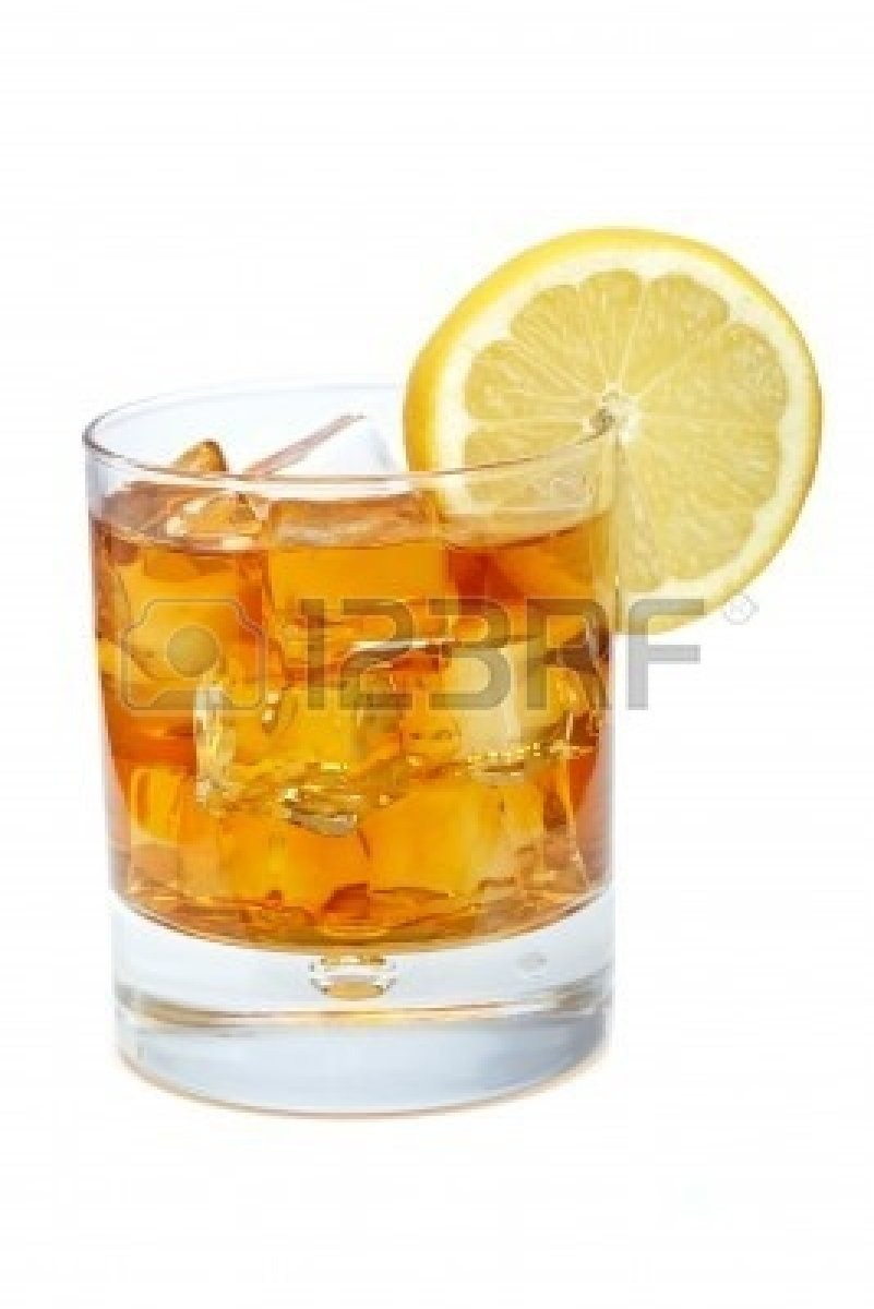 For cold ice tea, put ice in tea