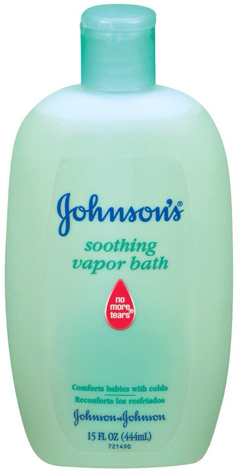 When your baby has a cold give him/her a bad with Johnson soothing vapor rub .. It makes the room smell awesome and helps kids baby's breath a little better