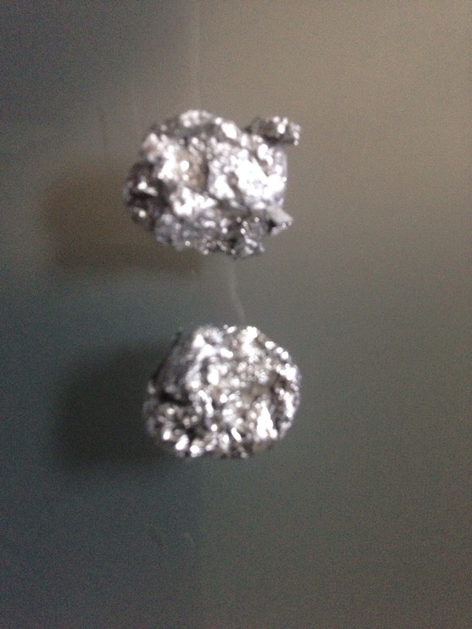 Get some foil and put them into a small ball-like shapes