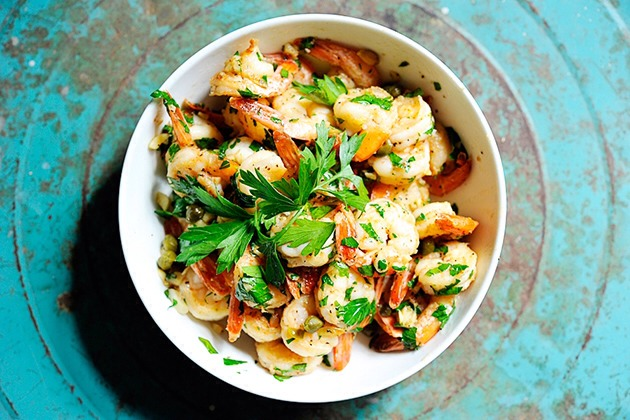 This Incredible 10-Minute Garlic Shrimp will hardly make it to the table; it is filled with such flavor, you'll be eating it from the pan. It is also great served room temperature or cold the next day on salads.