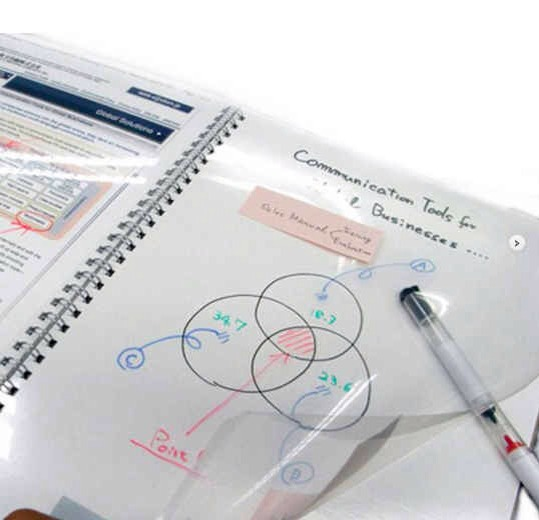 18. Whiteboard Notebook, $29   BUSINESS IN THE FRONT, BUSINESS IN THE BACK. Get it at ippinka.com