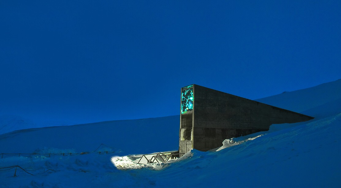 1. Svalbard Global Seed Vault Norwegian island of Spitsbergen near Longyearbyen.