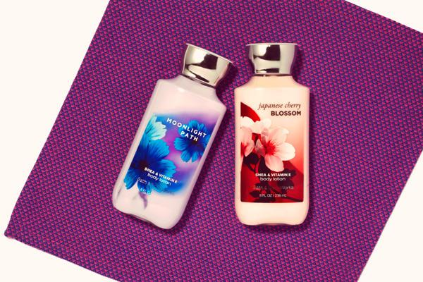 "Bath & Body Works Scented Lotion ""Great smelling body lotions that keep skin super moisturized for hours!"""