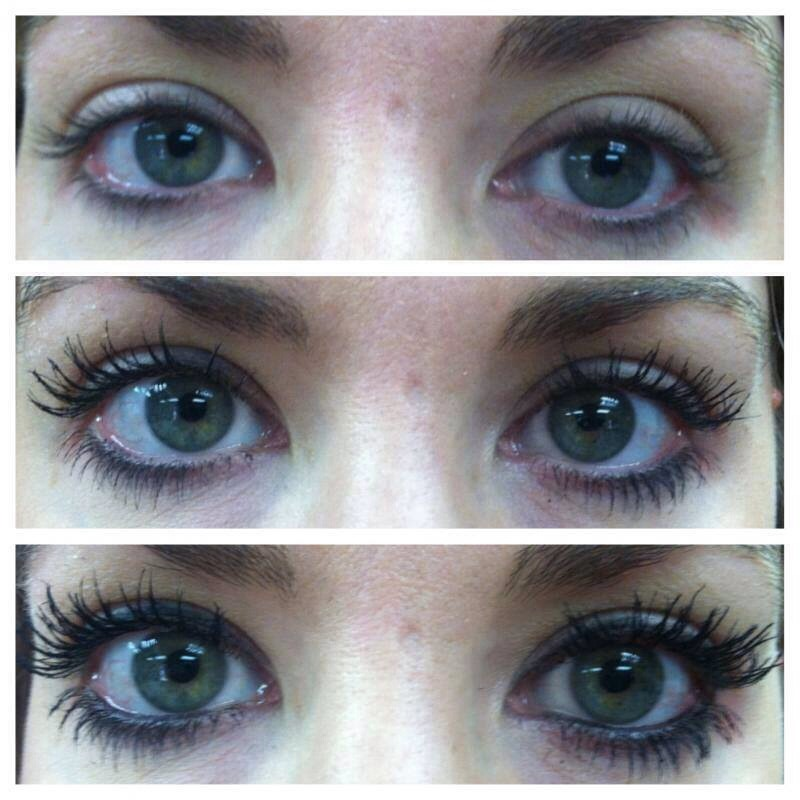 Pic 1: nothing. Pic 2: mascara. Pic 3: 3D fiber lashes by Younique!