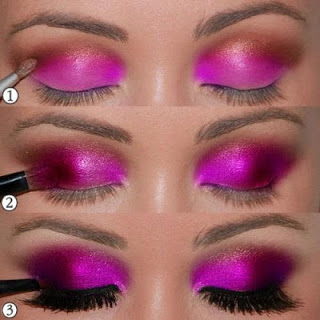 hot pink eye tutorial