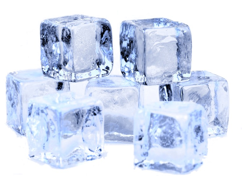 6 ice cubes