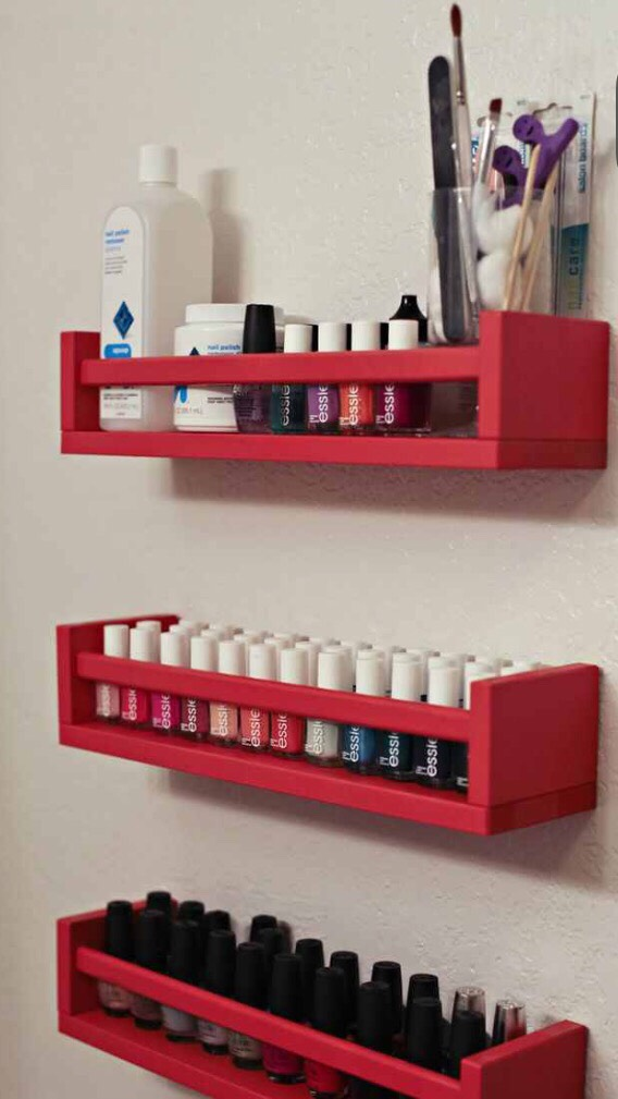 Use spice racks too store you beauty products