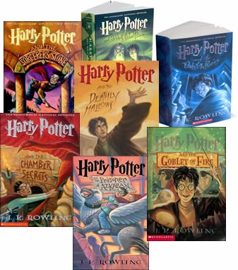 Harry Potter. This is my all time fav! Read it any where, in the car(unless your are like me and get carsick. I read anyways), in bed, at the beach, the possibilities are limitless! For all ages...