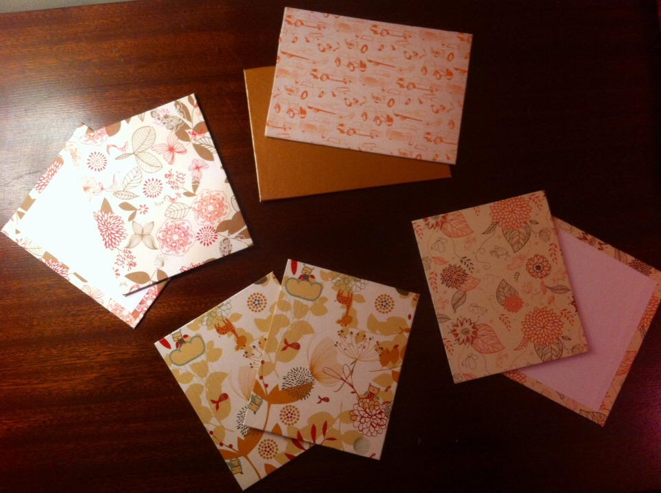 Book Inside Cover Patterned Paper : Musely