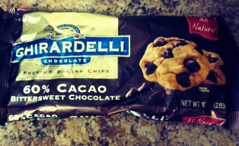 Add a package of chocolate chips, and mix it all together.