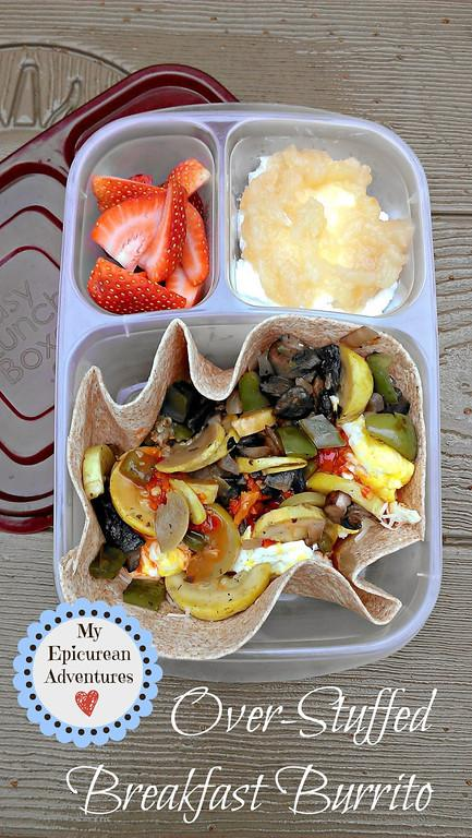 vegetable fajita, cottage cheese with applesauce, sliced fruit