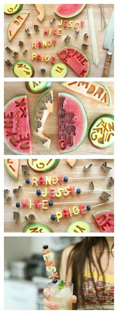 Use letter cut outs for another cute idea 👍