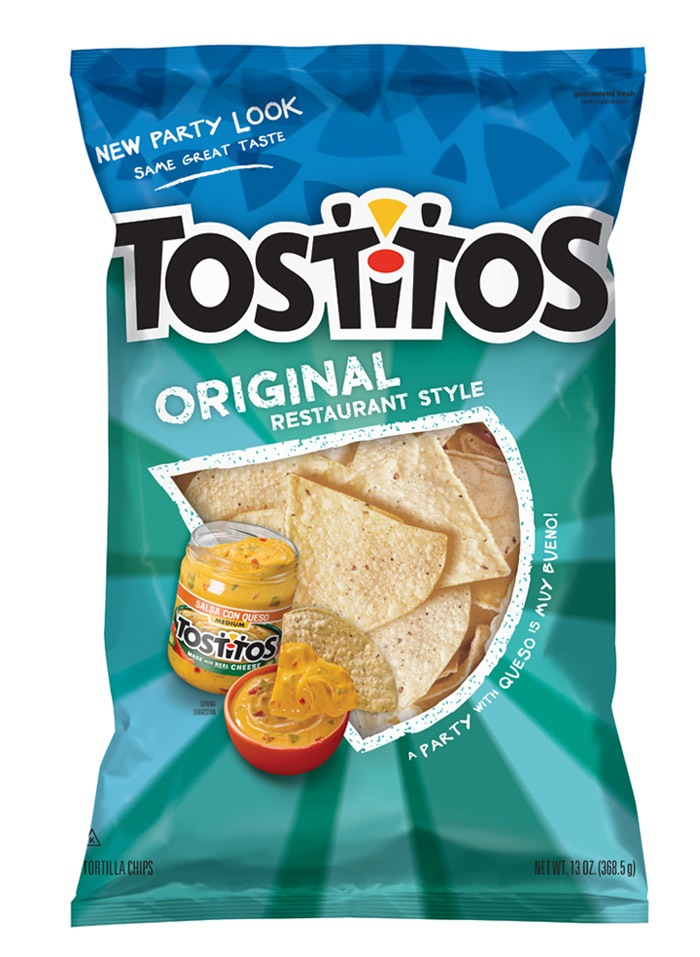 Eat with tostitos chips! Enjoy!!