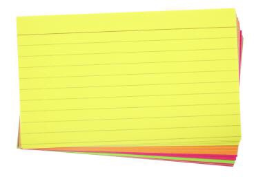 Keep some index cards with you just in case you have time to study