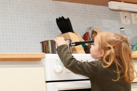 9.  CHILD-PROOF YOUR KITCHEN  If you already have young ones at home, you probably won't have to do much. But empty nesters and newlyweds will want to make sure their kitchen is safe for little ones.  First make sure they can't get a hold of any potentially harmful objects, such as matches!
