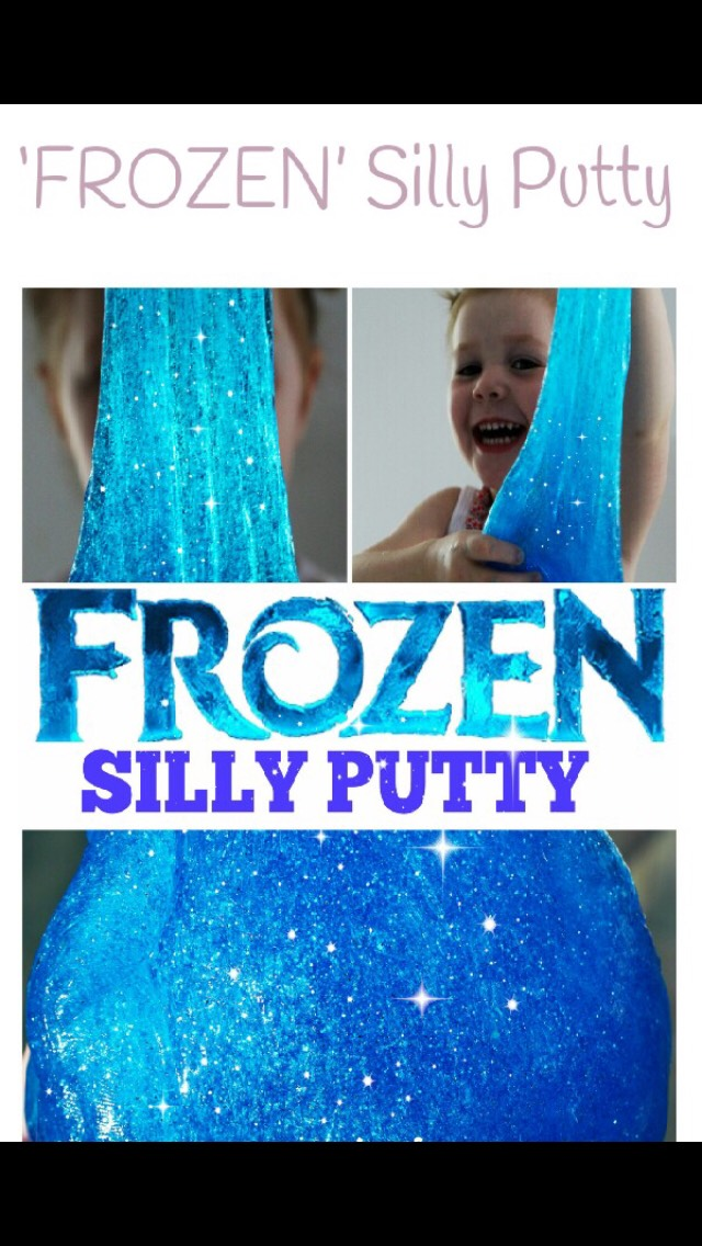 25a1e8cb1264 Diy Frozen Inspired Silly Putty ⛄ ❄ 💙 by Meher.301 ♛ - Musely