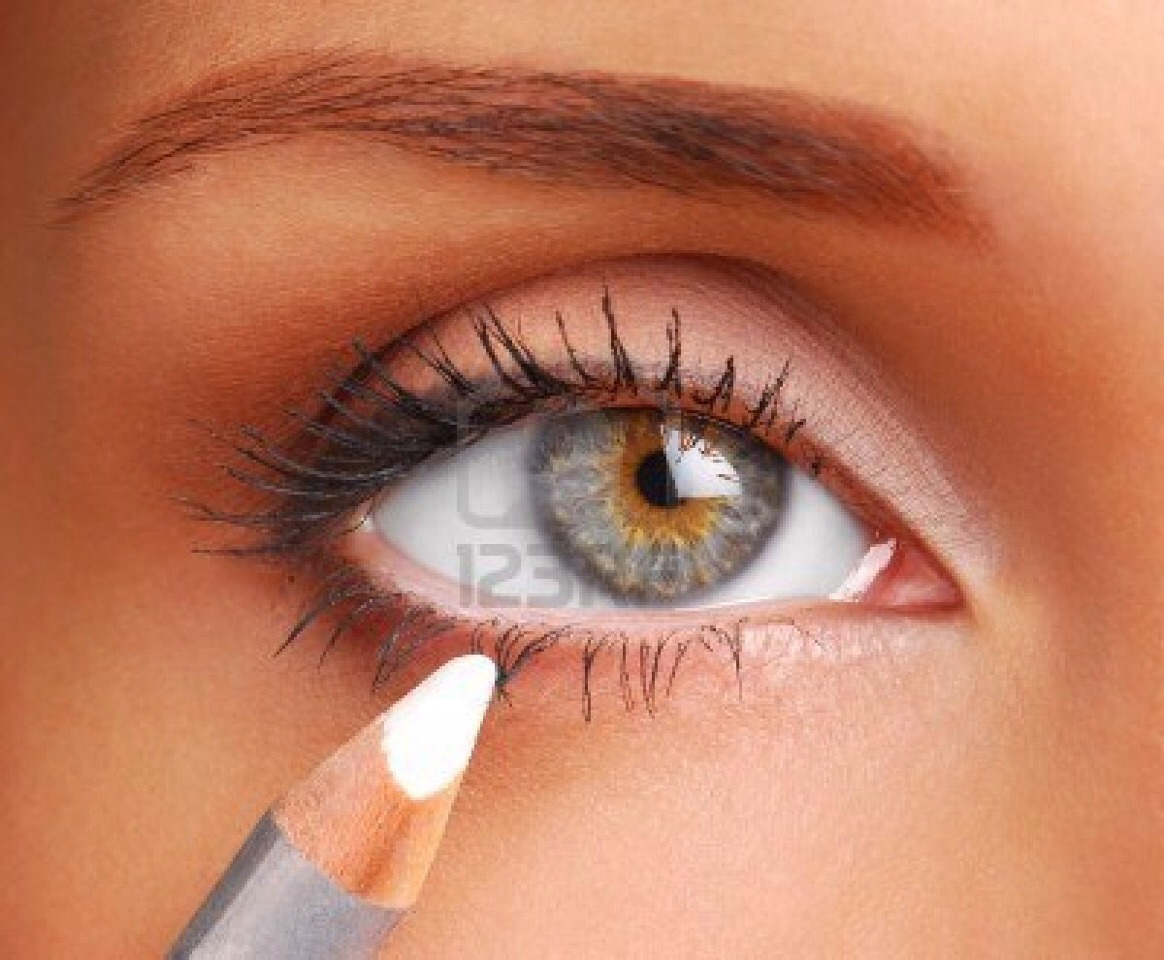 If your eyeliner pencil is too soft and crumbling, pop the pencil into the freezer for 15 minutes before applying.
