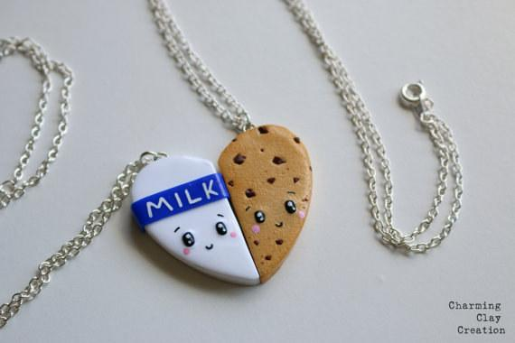 17. This cookies and milk BFF necklace ($15).