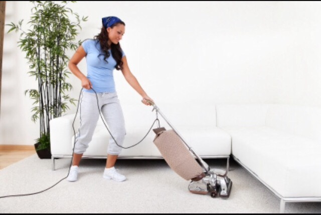 Vacuum all carpets and rugs.