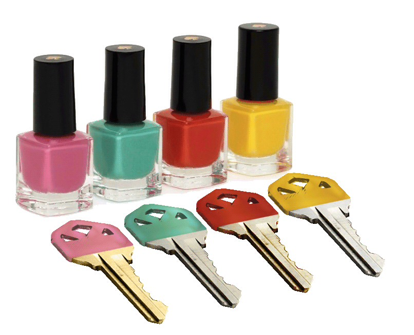 14. Label Keys. Have two keys that look similar? Color code them with nail polish.
