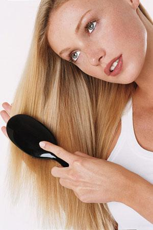 4. Brush your hair twice a day, from the bottom up