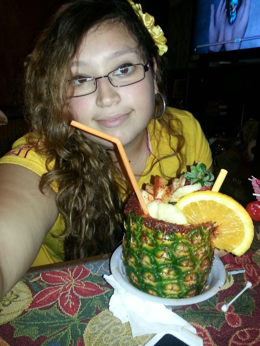 So here I am with my crazy pineapple