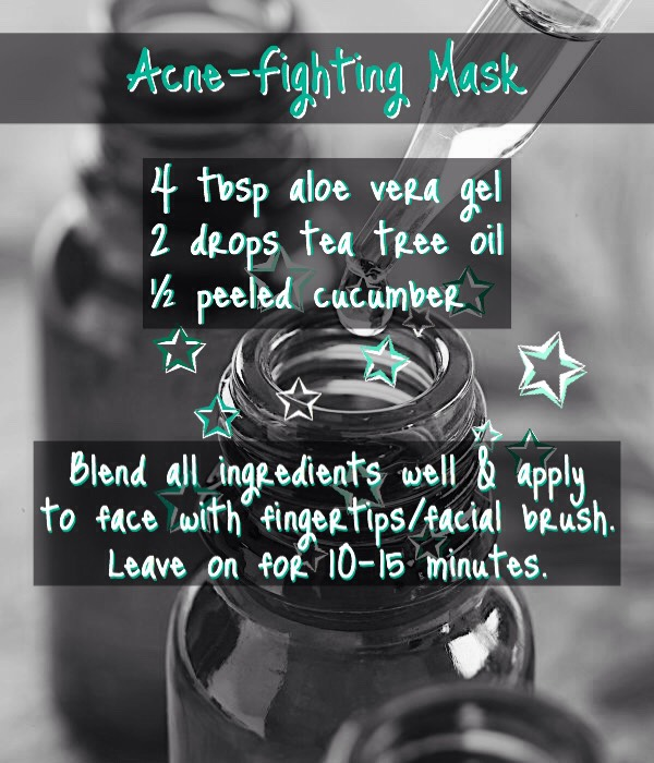 FROM    http://helloglow.co/3-tea-tree-oil-acne-remedies/  There are 2 more acne-fighting methods that usetea tree oil on this link!