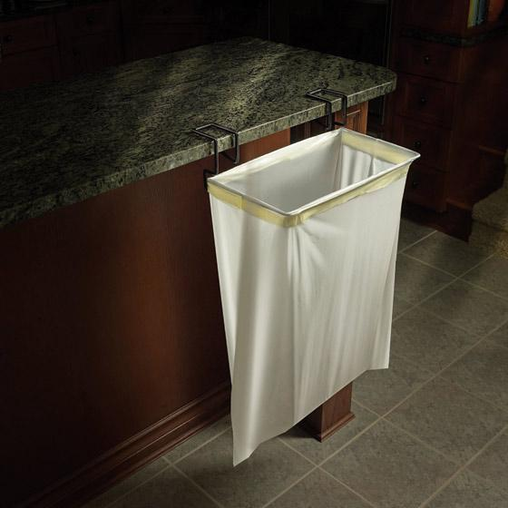 You can hang them on counters, tables, work benches, and ledge. http://homegadgetsdaily.com/portable-trash-ease-bag-holder/
