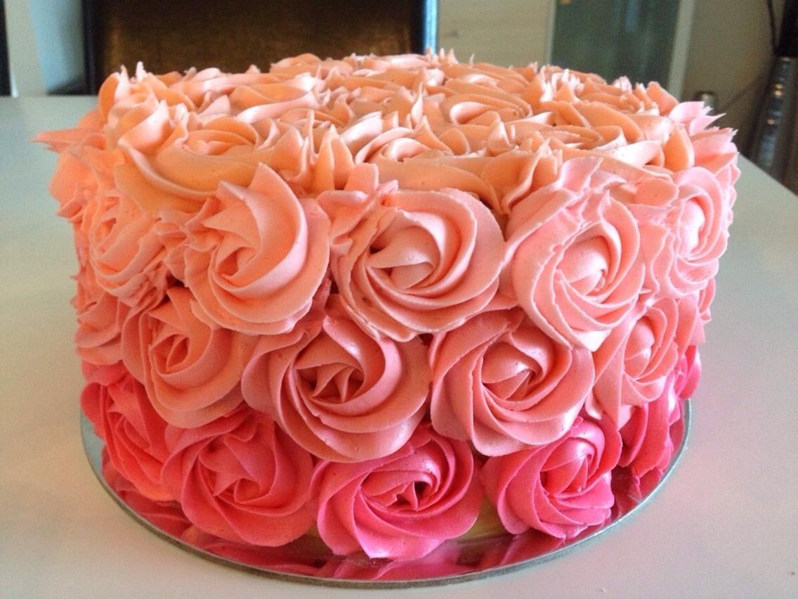 Торт с розами Украшение тортов Крем для розочек на торт