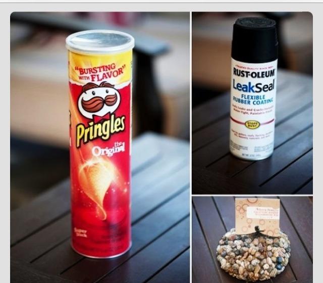 Pringles jar  Rocks  Leak seal flexible rubber coating.