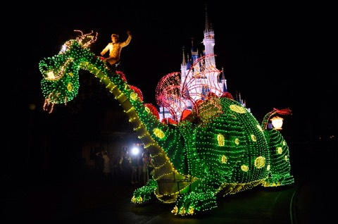 Electric Light Parade (ELP): Spectacular parade that appears at the Magic Kingdom.
