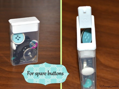 spare things like buttons