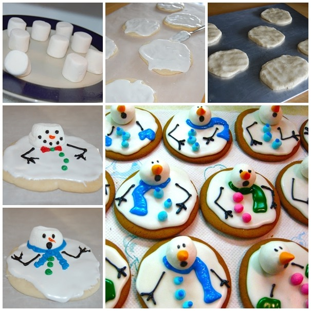 Melted snowmen cookies!!